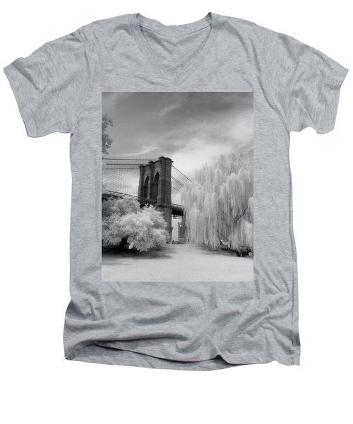 Brooklyn Bridge Willows Men's V-Neck T-Shirt