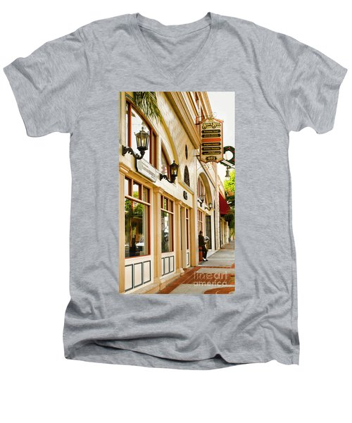 Brown Bros Building Men's V-Neck T-Shirt