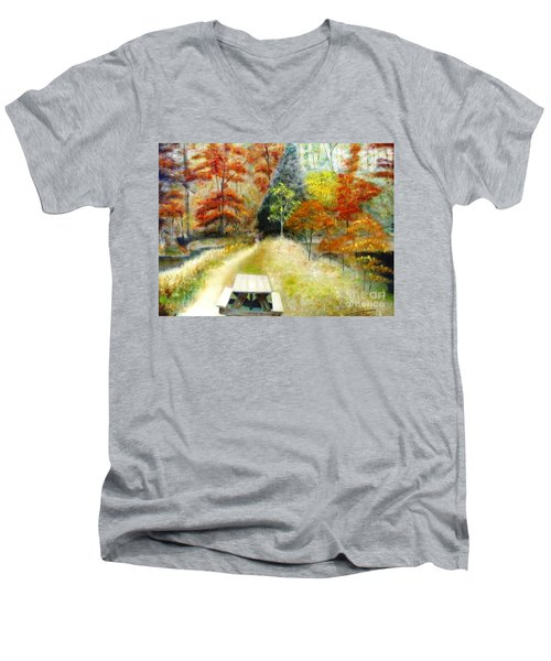 Brown County Men's V-Neck T-Shirt
