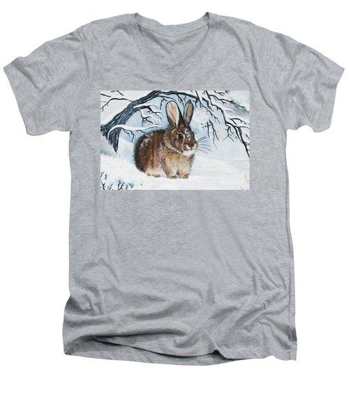 Brrrr Bunny Men's V-Neck T-Shirt
