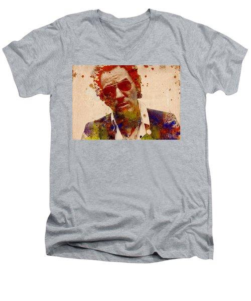 Bruce Springsteen Men's V-Neck T-Shirt by Bekim Art
