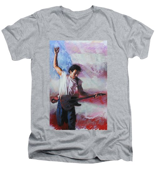 Bruce Springsteen The Boss Men's V-Neck T-Shirt