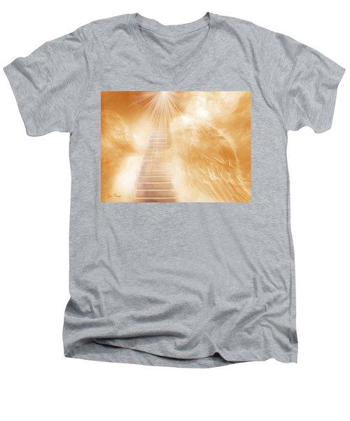 Brush Of Angels Wings Men's V-Neck T-Shirt