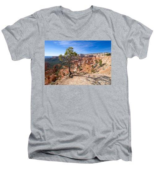 Bryce Canyon Men's V-Neck T-Shirt by Juergen Klust