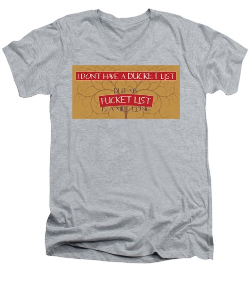 Bucket List Men's V-Neck T-Shirt by John Crothers
