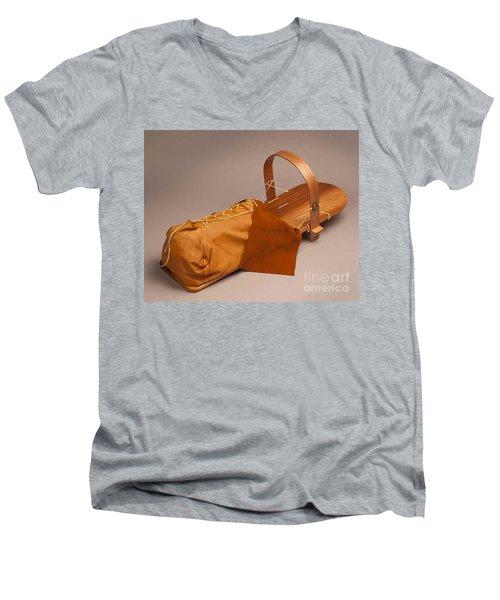 Buckskin Cradleboard Men's V-Neck T-Shirt