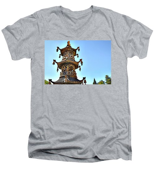 Buddhist Bells Men's V-Neck T-Shirt