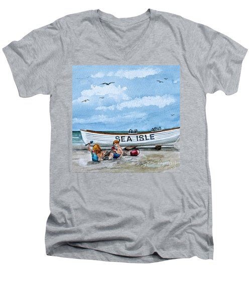 Buddies In Sea Isle City 2 Men's V-Neck T-Shirt
