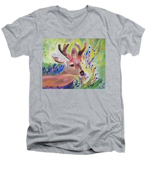 Budding Fields Men's V-Neck T-Shirt