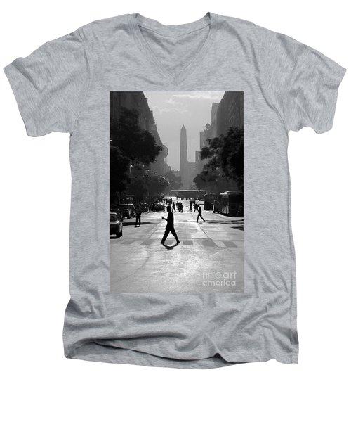 Buenos Aires Obelisk II Men's V-Neck T-Shirt