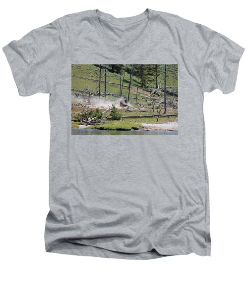 Buffalo Dust Bath Men's V-Neck T-Shirt