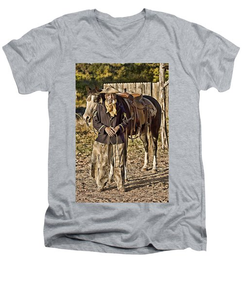 Buffalo Soldier Men's V-Neck T-Shirt