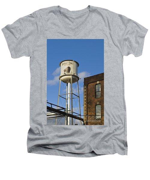 Buffalo Trace - D008739a Men's V-Neck T-Shirt by Daniel Dempster