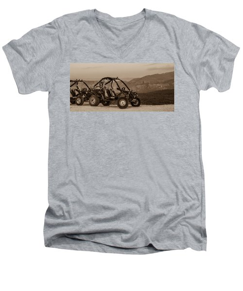 Buggy Men's V-Neck T-Shirt by Silvia Bruno