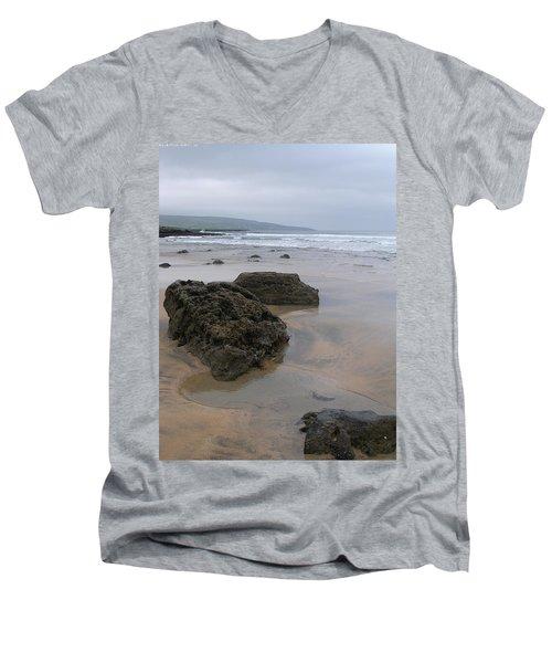 Buren Gold Beach Men's V-Neck T-Shirt