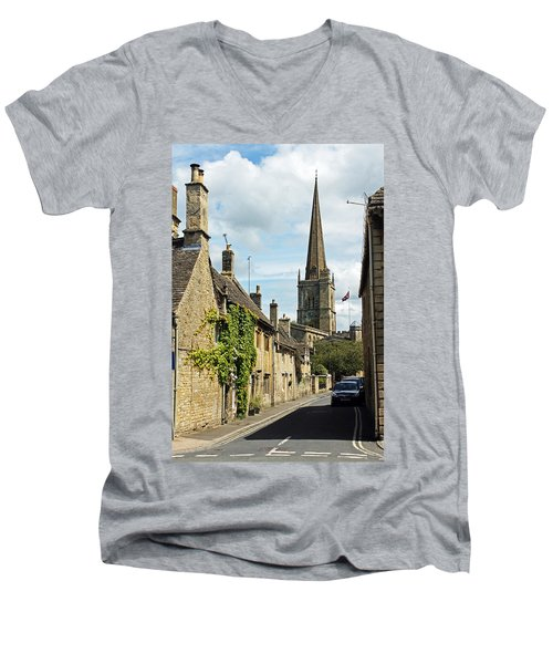 Burford Village Street Men's V-Neck T-Shirt