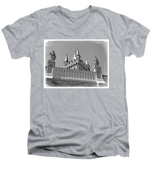 Men's V-Neck T-Shirt featuring the photograph Burg Hohenzollern by Carsten Reisinger