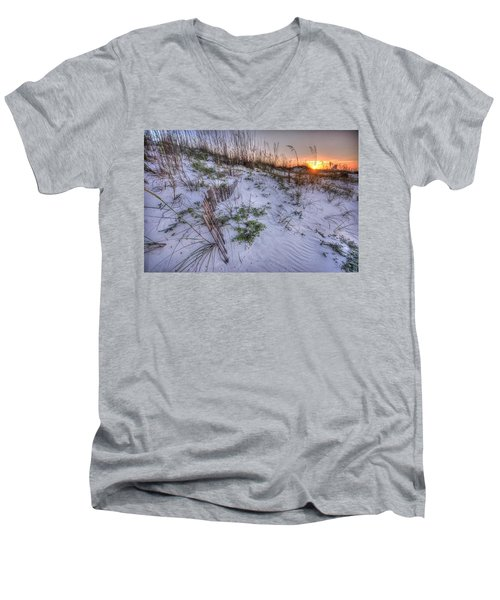 Buried Fences Men's V-Neck T-Shirt by Michael Thomas