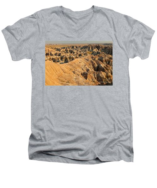 Burns Basin Overlook Badlands National Park Men's V-Neck T-Shirt