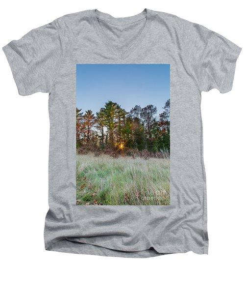 Burst Thru The Woods Men's V-Neck T-Shirt