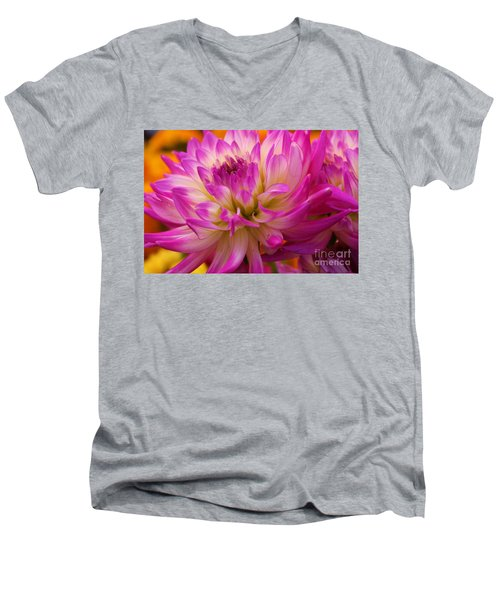 Men's V-Neck T-Shirt featuring the photograph Bursting With Color by John S