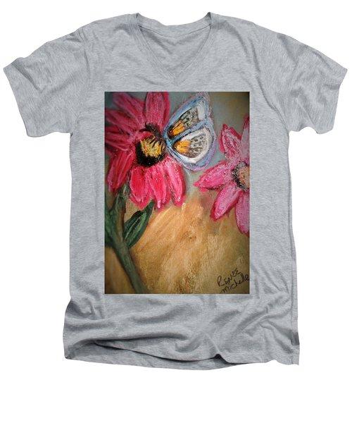 Butterfly Breakfast Men's V-Neck T-Shirt