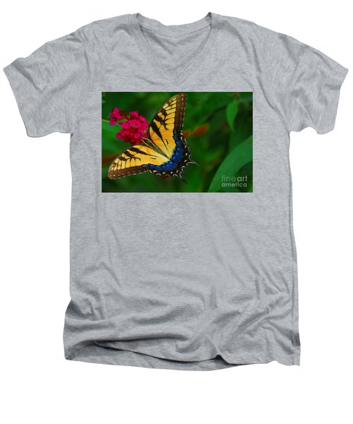 Men's V-Neck T-Shirt featuring the photograph Butterfly by Geraldine DeBoer
