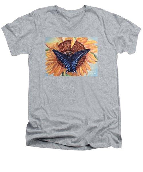 Butterfly Sunday Up-close Men's V-Neck T-Shirt