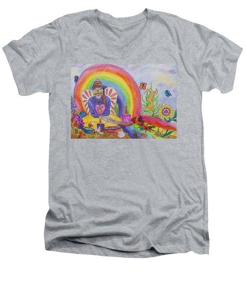 Butterfly Woman Healer I Am Men's V-Neck T-Shirt