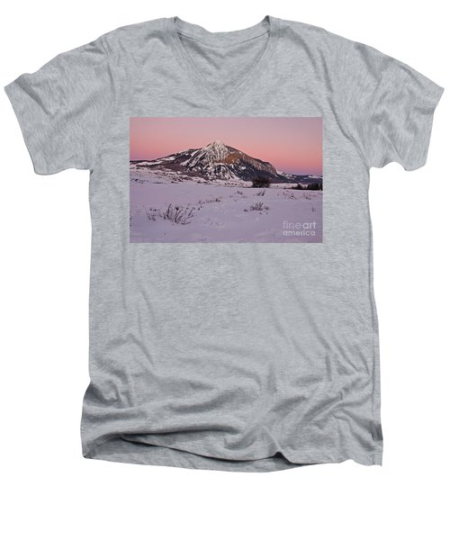 Butte's Winter Glow Men's V-Neck T-Shirt
