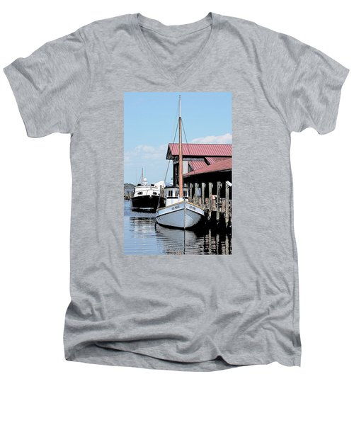 Buy Boat Old Point Men's V-Neck T-Shirt