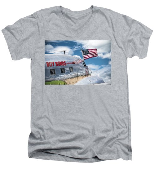 Men's V-Neck T-Shirt featuring the photograph Buy Bonds by Steven Bateson