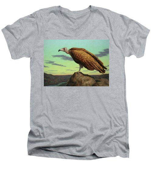 Buzzard Rock Men's V-Neck T-Shirt by James W Johnson