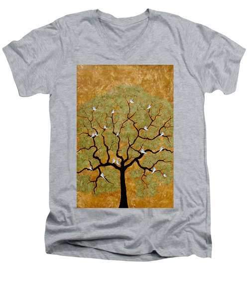 By The Tree Re-painted Men's V-Neck T-Shirt