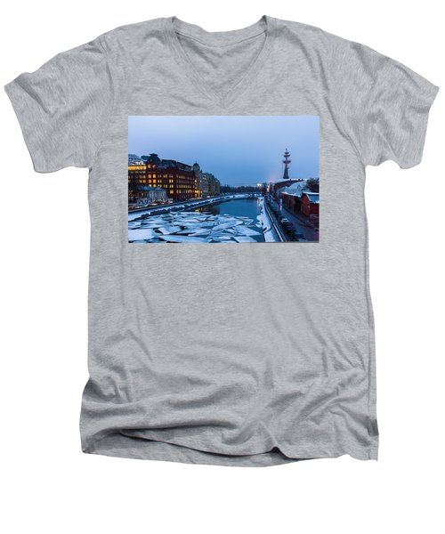 Bypass Canal Of Moscow River - Featured 3 Men's V-Neck T-Shirt