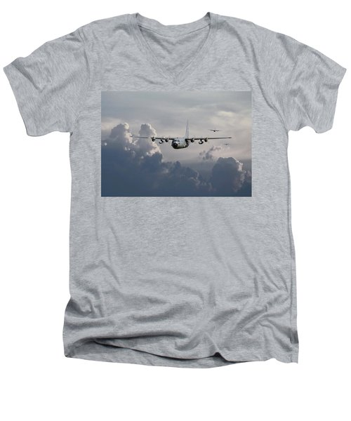 C130 Hecules    In Trail Men's V-Neck T-Shirt