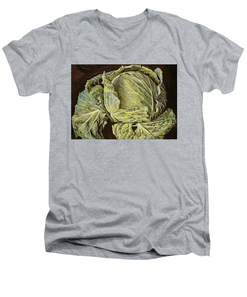 Cabbage Still Life Men's V-Neck T-Shirt