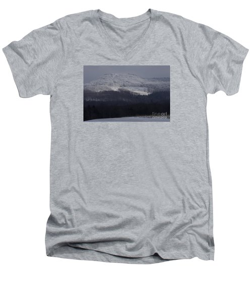 Cabin Mountain Men's V-Neck T-Shirt by Randy Bodkins