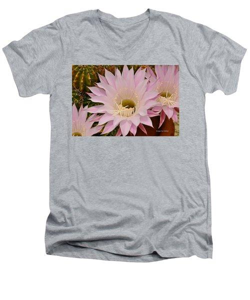 Cactus In The Backyard Men's V-Neck T-Shirt