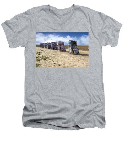 Cadillac Ranch Men's V-Neck T-Shirt