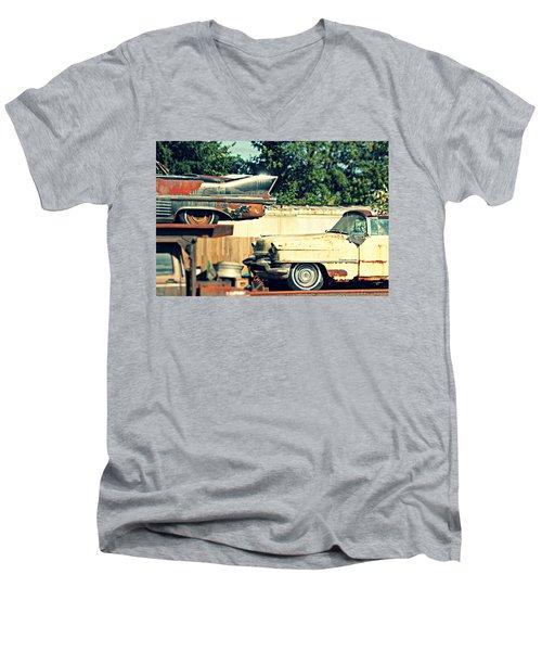 Cadillacs In Decay Men's V-Neck T-Shirt