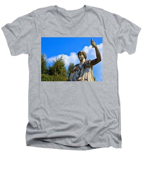 Caesar On Blue Sky Men's V-Neck T-Shirt