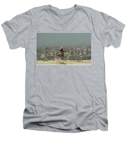 Men's V-Neck T-Shirt featuring the photograph Cairo Egypt by Jennifer Wheatley Wolf