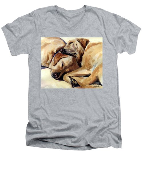 California Dreamers Men's V-Neck T-Shirt by Molly Poole