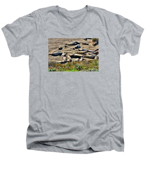 California Dreaming Men's V-Neck T-Shirt by Jim Carrell