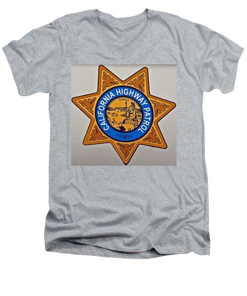 California Highway Patrol Men's V-Neck T-Shirt