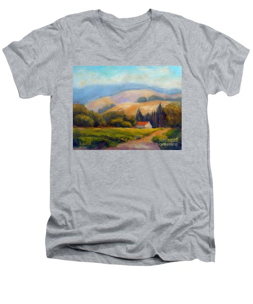 California Hills Men's V-Neck T-Shirt