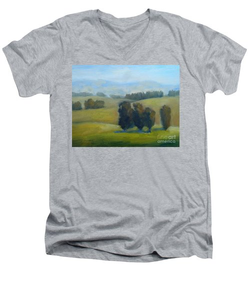 California Hills Late February Men's V-Neck T-Shirt