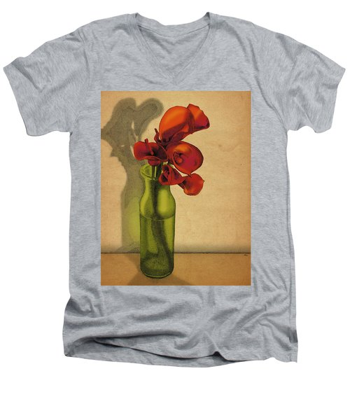 Calla Lilies In Bloom Men's V-Neck T-Shirt