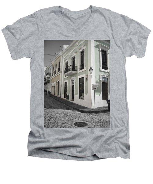 Calle De Luna Y Calle Del Cristo Men's V-Neck T-Shirt by Daniel Sheldon